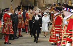 Jubilee celebrations: The Queen leaves Westminster Hall after her diamond jubilee luncheon