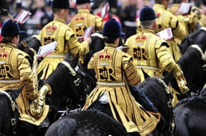 Jubilee celebrations: Britain's Household Cavalry mounted band