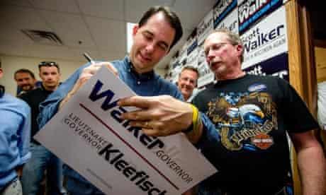 Scott Walker in Wisconsin