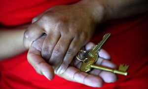 Holding hands and house keys