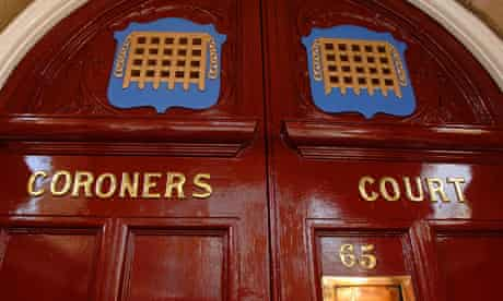 Entrance to Westminster coroner's court