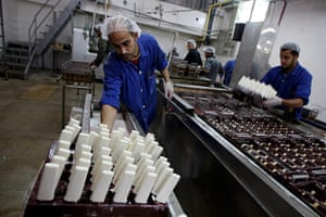 Gaza life: Inside the Al-Arees ice cream factory.