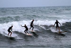 Gaza life: Palestinian youths surfing