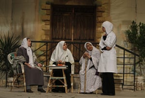 Gaza life: Women perform in a play