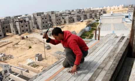 A Palestinian labourer