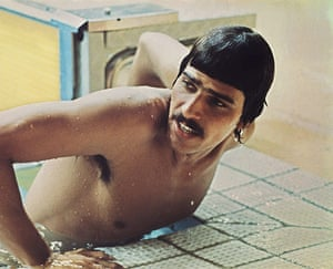 Mark Spitz: American swimmer Mark Spitz gets out of