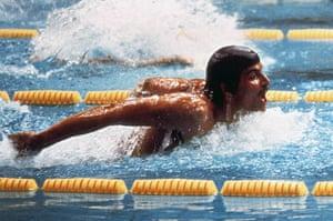 Mark Spitz: US swimmer champion Mark Spitz in action