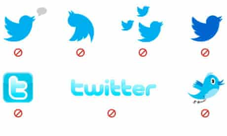 Twitter has banned all of these takes on its logo