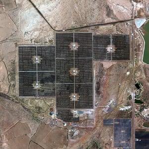 Satellie Eye on Earth: solar park in Charanka in Northern Gujarat