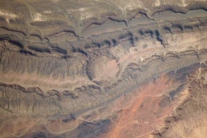 Satellie Eye on Earth: The Ouarkziz Impact Crater is located in northwestern Algeria