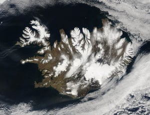 Satellie Eye on Earth: Iceland was encircled by a halo of cloud