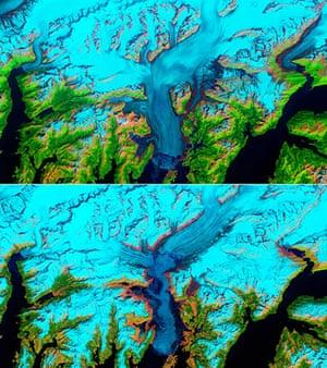 Satellie Eye on Earth: Retreat of Alaska's Columbia Glacier