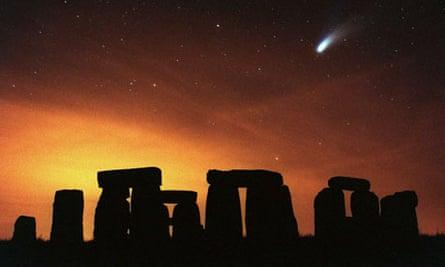 Stonehenge and Comet Hale-Bopp