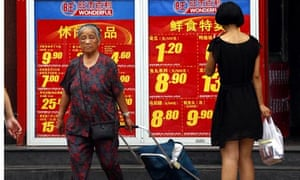 Shoppers in Beijing