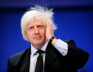 Boris's bad hair days: Boris Johnson at the Bournemouth Conservative party conference 2006.