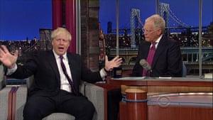 Boris's bad hair days: Boris Johnson with David Letterman