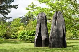 David Nash: Two Sliced Cedars, 2010