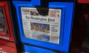 The Washington Post on sale in a vending machine