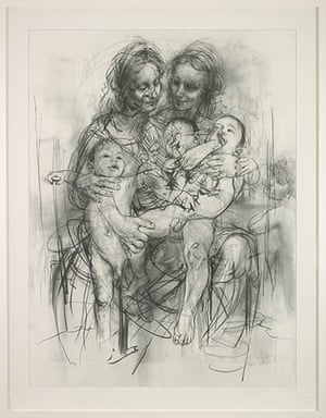 Jenny Saville: Reproduction drawing IV (after the Leonardo cartoon), 2010