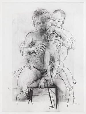 Saville: Reproduction drawing III (after the Leonardo cartoon), 2009-10