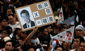 A Hong Kong protester