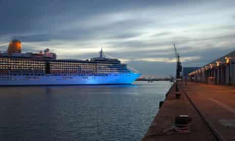 P&O cruise ship Arcadia at Southampton docks