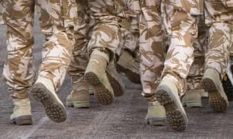 British army troop