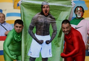 sport: Italian fans are pictured before the Eur