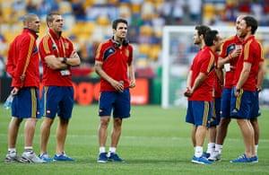 sport: Spain's soccer team