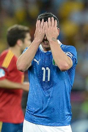 sport15: Italian forward Antonio Di Natale reacts