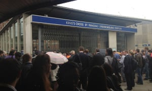 A closed entrance at King's Cross St Pancras on 10 July 2012. Photograph: Subhajit Banerjee