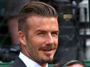 David Beckham at Wimbledon on 8 July 2012.
