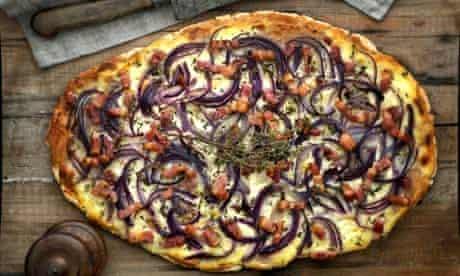 Onion and creme fraiche tarte