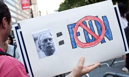 New York Bloomberg soda protest