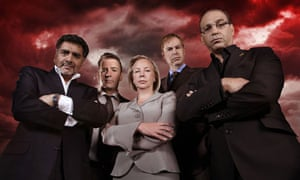 Theo Paphitis, right, with Dragons' Den team