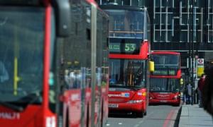 London buses, England