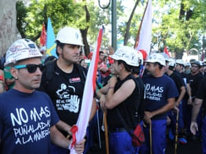 Spanish coal miners gather before a demonstration in Madrid, on July 11, 2012.
