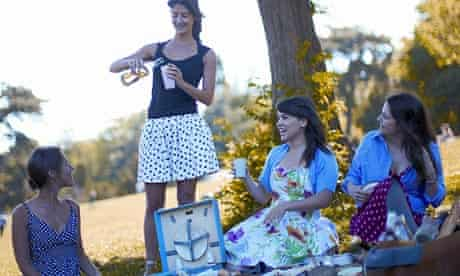 Rachel Khoo picnicing with friends