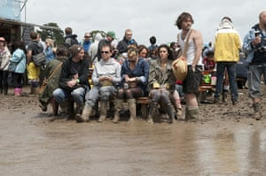 Wet festivals update: Deep mud at the Isle of Wight Festival at Seaclose Park