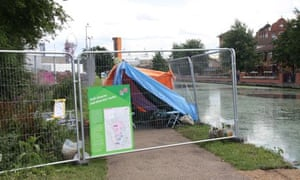 Olympic park towpath security
