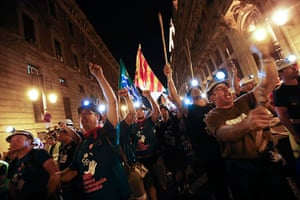 Miners reach Madrid: Coal miners take part in the last day of their Marcha Negra