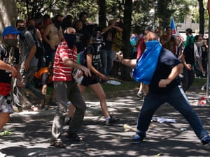 Miners clash with riot police agents during demonstations, 11 July 2012.