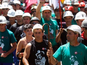 Miners and supporters protest against government austerity measures in Madrid July 11, 2012.