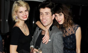 With friends like these … Grimshaw with Pixie Geldof and Alexa Chung.