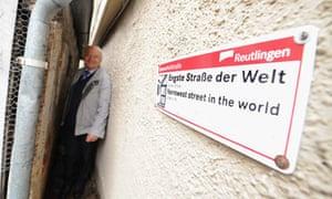 Breathe in … the narrowest street in the world in Reutlingen, Germany.