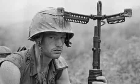 American soldier in Vietnam, 1968