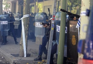Spain miners: Miners Clash With Police While Demonstrating In Madrid