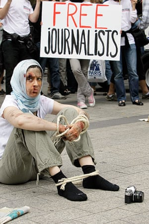 Iran reporters: Reporters Without Borders activists,