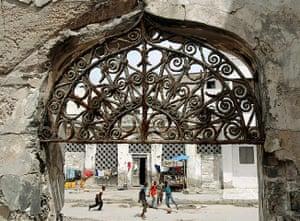 Mogadishu: Children play with a ball