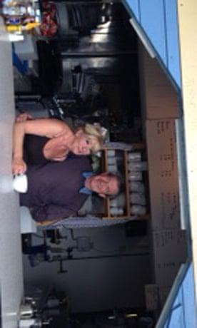 John and Tina Stevenson at the Nothe Cafe.